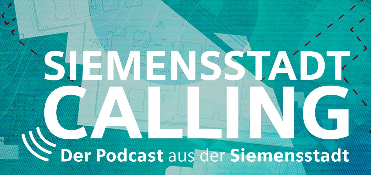 Logo for the Siemensstadt Podcast