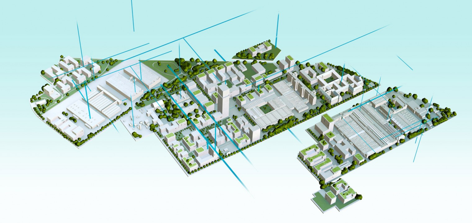 AR model of the new Siemensstadt in Berlin