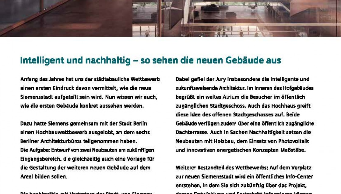 Siemensstadt UpDate December 2020, newsletter page 2