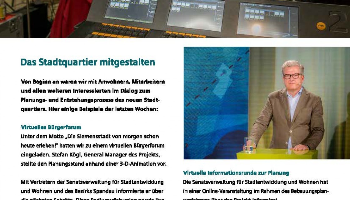 Siemensstadt UpDate December 2020, newsletter page 4